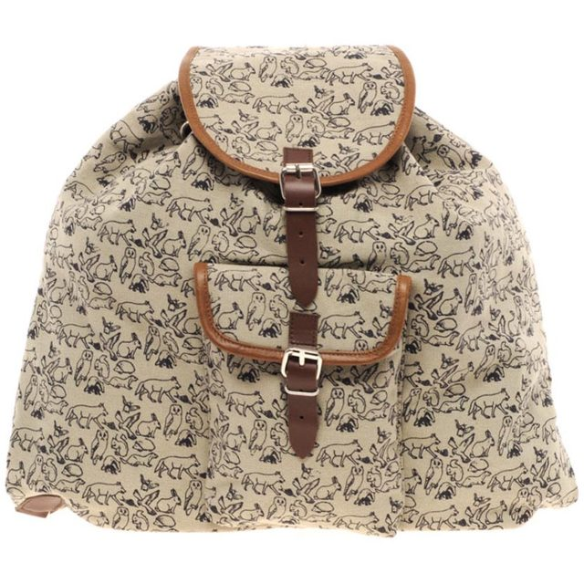 Kate Sheridan Animal Print Backpack