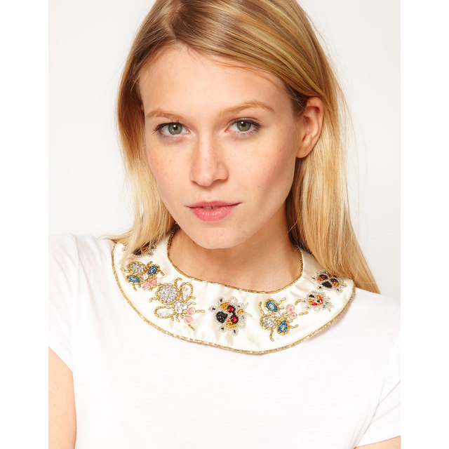 ASOS Embellished Bug Collar