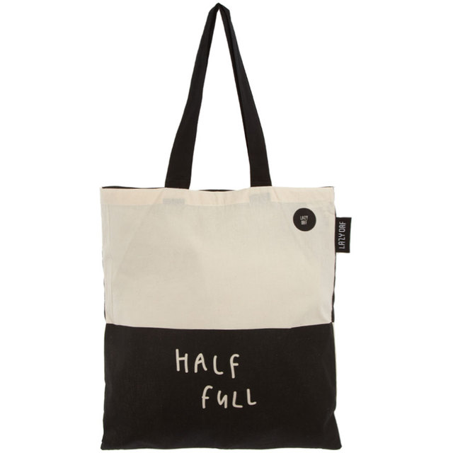 Lazy Oaf Glass Half Empty Half Full Shopper